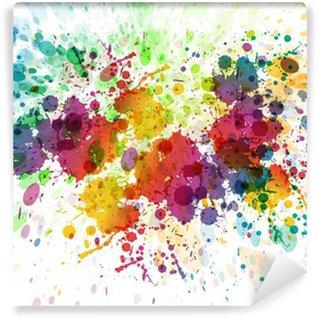 Tvättbar Fototapet Raster version av abstrakt färgrik plaska bakgrund