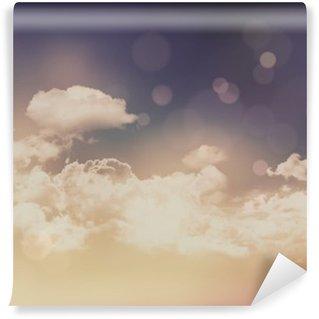 Tvättbar Fototapet Retro moln och himmel bakgrund