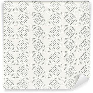 Tvättbar Fototapet Seamless mönster. Handritad. Blomma. bakgrund design