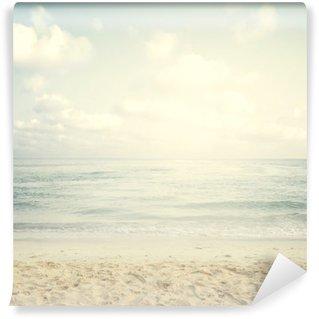 Tvättbar Fototapet Tappning tropisk strand i sommar