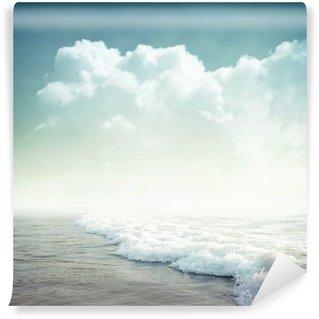 Tvättbar Fototapet Tropisk bakgrund