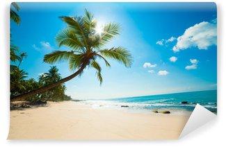 Tvättbar Fototapet Tropisk strand