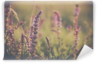 Tvättbar Fototapet Vilda blommor