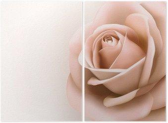 Tweeluik Achtergrond met mooie roze roos. Vector
