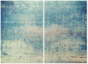 Tweeluik Horizontaal georiënteerd blauw gekleurde grunge achtergrond