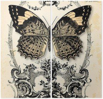 Tweeluik Vlinderachtergrond