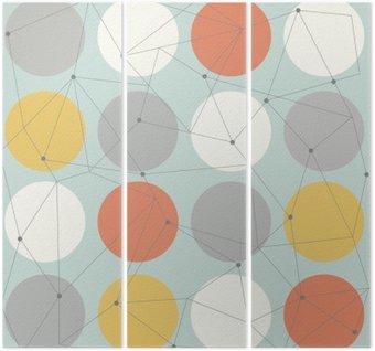 Üç Parçalı İskandinav geometrik Modern seamless pattern