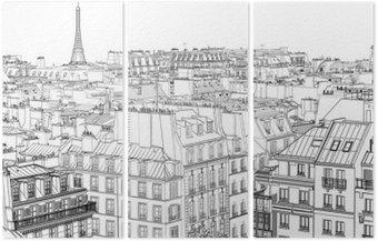 Üç Parçalı Paris'te çatılar