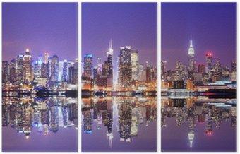 Üç Parçalı Reflections Manhattan Skyline