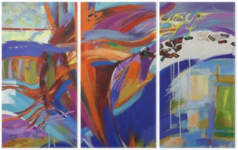 Üç Parçalı Soyutlama Sanat