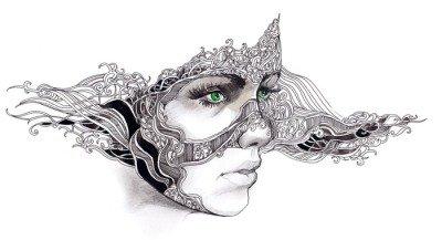 Väggdekor Abstrakt kvinna ansikte