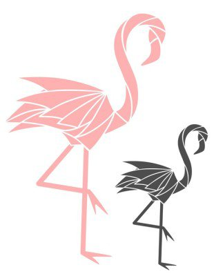 Väggdekor Flamingo