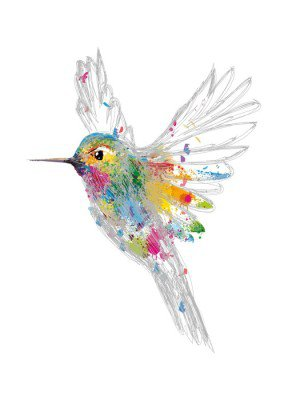 Väggdekor Hummingbird
