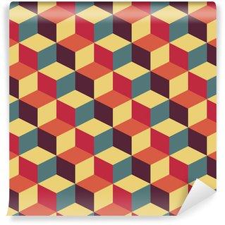 Abstrakti retro geometrinen kuvio Vinyyli Valokuvatapetti