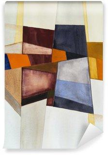 En modernistisk abstrakt akvarel Vaskbare Fototapet