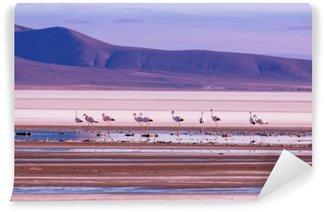 Flamingo Vaskbare Fototapet