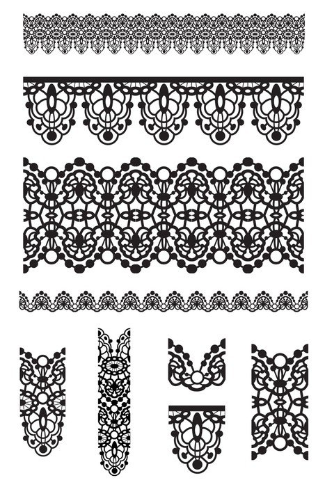 Vector Lace Trims and Brushes