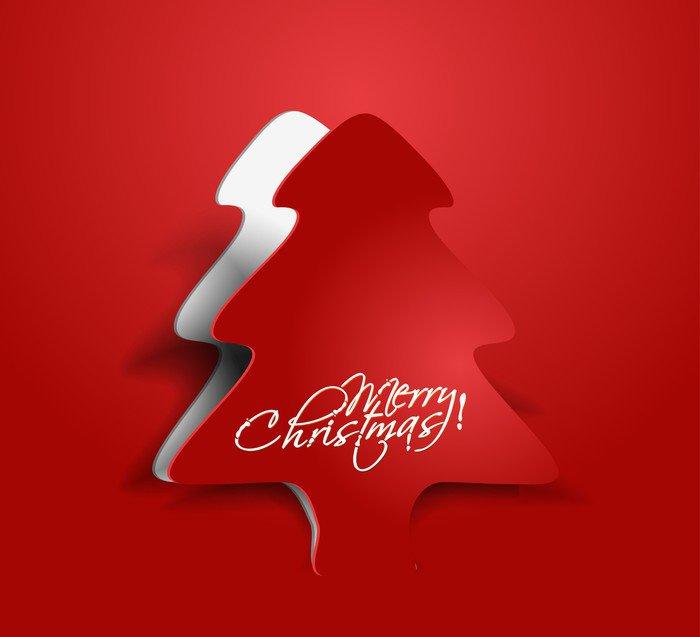 vector peel off christmas tree