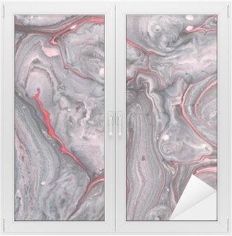 Abstrakt maling baggrund Vindue og Glas Klistermærke
