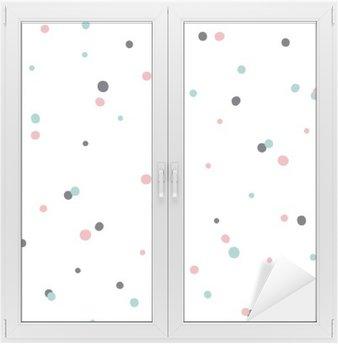 Abstrakt sømløs mønster på hvid baggrund med sort og Gol Vindue og Glas Klistermærke