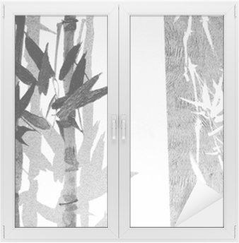 Bambus tekstur Vindue og Glas Klistermærke