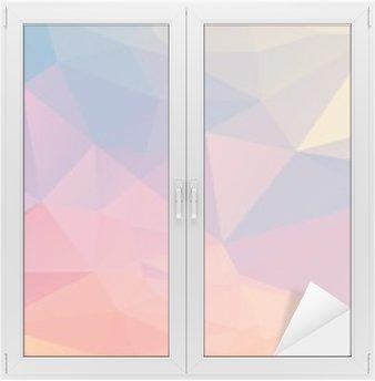 Farverig polygon Vindue og Glas Klistermærke