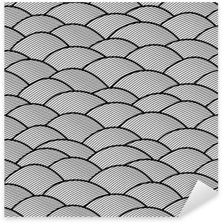 Pixerstick para Todas las Superficies Abstracto sin patrón dibujado a mano, las olas de fondo