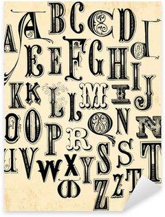 Vinilo Pixerstick Alfabeto vintage