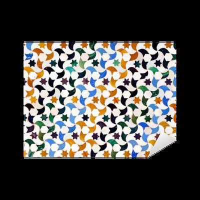 Vinilo pixerstick alicatados mosaicos azulejos alhambra for Azulejos pvc autoadhesivos