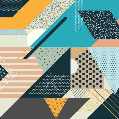 Pixerstick para Todas las Superficies Arte Fondo geométrico