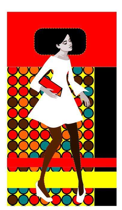Pixerstick para Todas las Superficies Arte pop retro - Mujeres