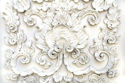 Pixerstick para Todas las Superficies Arte tailandés blanca pared de estuco, el templo de Tailandia