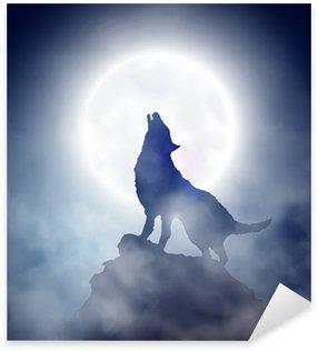 Vinilo Pixerstick Aullido del lobo