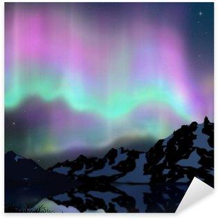 Pixerstick para Todas las Superficies Aurora sobre el lago