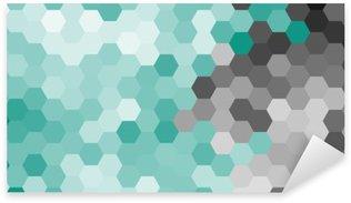 Vinilo Pixerstick Azul patrón geométrico hexágono en colores pastel sin contorno.