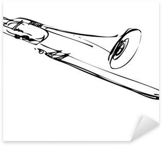 Pixerstick para Todas las Superficies Bosquejo de cobre musical trombón instrumento