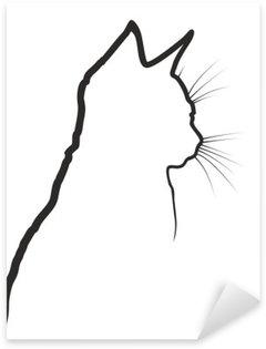 Pixerstick para Todas las Superficies Bosquejo de gato.