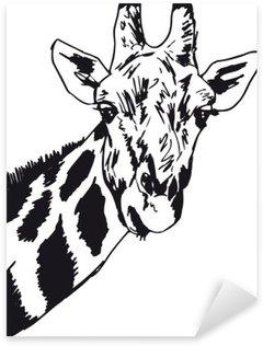 Pixerstick para Todas las Superficies Bosquejo de la cabeza de jirafa. Ilustración vectorial