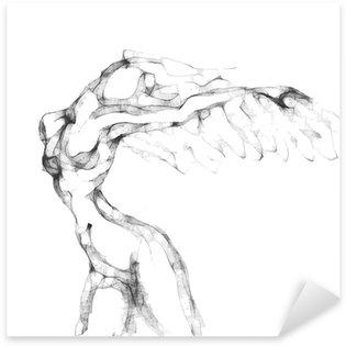 Pixerstick para Todas las Superficies Bosquejo de la mujer volar