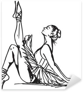Pixerstick para Todas las Superficies Bosquejo del bailarín de ballet. ilustración vectorial