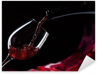 Pixerstick para Todas las Superficies Botella y vaso de vino tinto