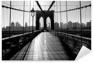 Vinilo Pixerstick Brooklyn Bridge, Manhattan, Nueva York, EE.UU.