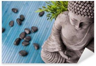 Pixerstick para Todas las Superficies Buddha mit Bambus, Masajista Steinen und Schale mit Blüten