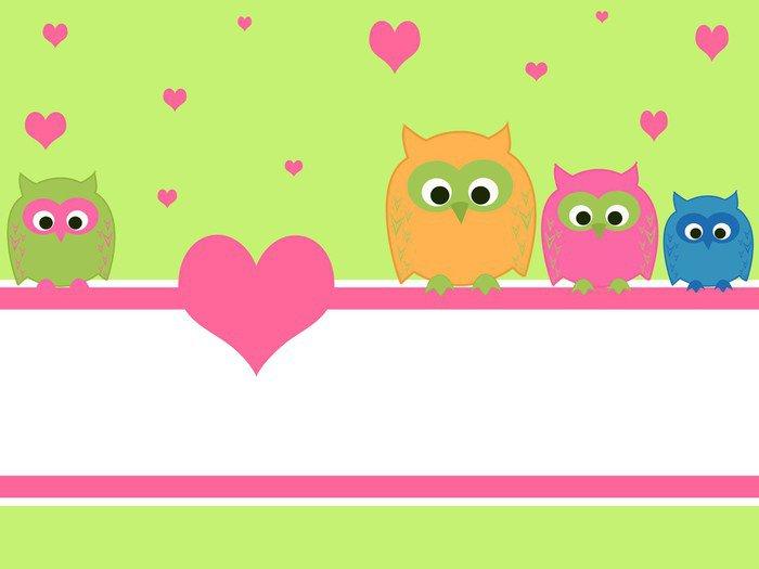 Pixerstick para Todas las Superficies Búhos en el amor - Para niña