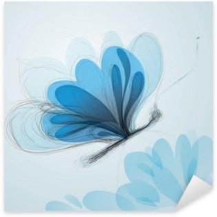 Pixerstick para Todas las Superficies Butterfly como bosquejo flor / Surreal