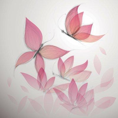 Pixerstick para Todas las Superficies Butterfly como fondo floral / Surreal