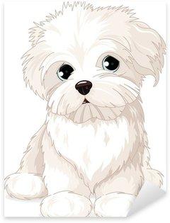 Pixerstick para Todas las Superficies Cachorro de perro maltés