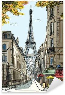 Pixerstick para Todas las Superficies Calle de París - ilustración