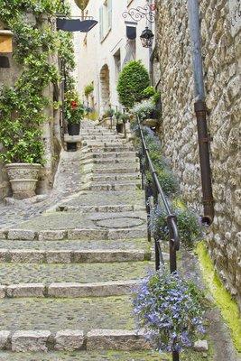Pixerstick para Todas las Superficies Calle en la ciudad medieval de Saint Paul de Vence, Francia