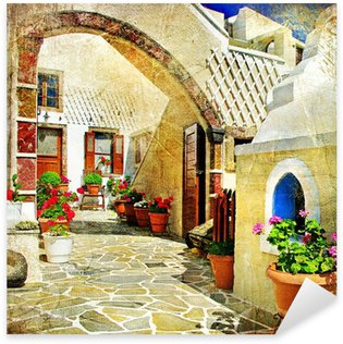 Pixerstick para Todas las Superficies Calles pictóricas de Santorini